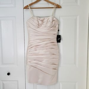 NWT Adrianna Papell Cocktail Strapless Satin Dress